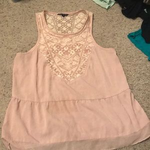 Lace detailed tank